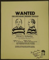 Image of 'Wanted...For Upstaging President Reagan' - Laikin, Aron, 1962-